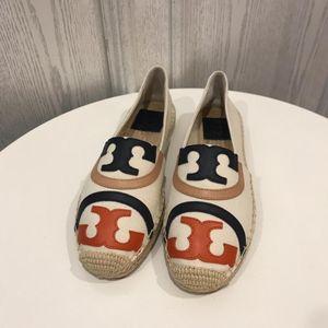Tory Burch 托里·伯奇7码拼色logo渔夫鞋