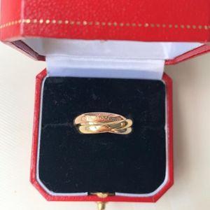 Cartier 卡地亚三色金戒指