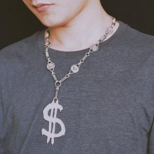 Versace 范思哲美杜莎符文嘻哈银色项链