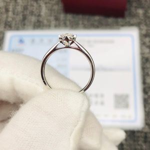 Laofengxiang 老凤祥Au750白金钻石戒指