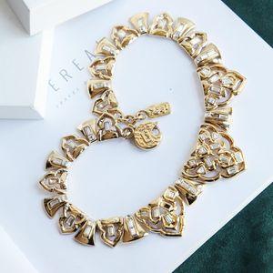 Yves Saint Laurent 伊夫·圣罗兰重金视觉系巴黎时装走秀复古富贵项链锁骨链