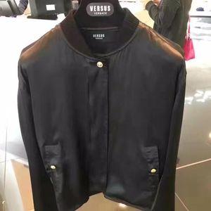 Versace 范思哲黑色桑蚕丝外套