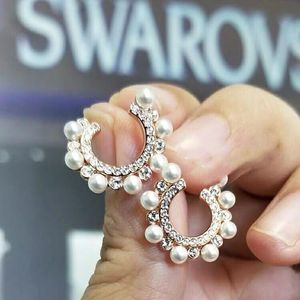SWAROVSKI 施华洛世奇珍珠花环耳环