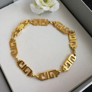 GIVENCHY 纪梵希XL12077双G字母串镀金手链