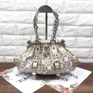 Versace 范思哲米白色帆布手提包