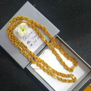 Celine 赛琳XL02004巴黎走秀款粗镀金丝项链