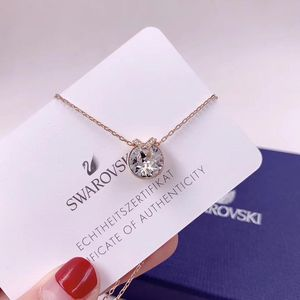 SWAROVSKI 施华洛世奇贝拉玫瑰金色水晶项链