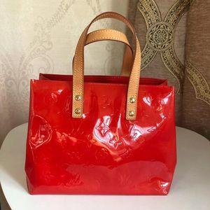 Louis Vuitton 路易·威登红色漆皮手提包