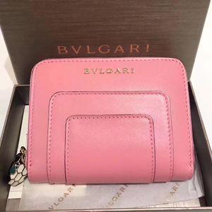 BVLGARI 宝格丽蛇头粉色钱包