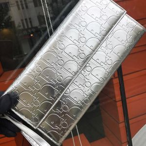 Dior 迪奥银色女款手包