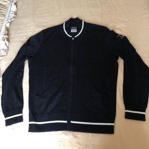 CHANEL 香奈儿logo羊毛针织棒球开衫外套