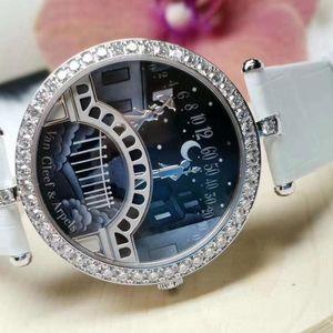 Van Cleef Arpels 梵克雅宝情人桥巴黎的艺术桥18k白金镶钻石自动机械女表