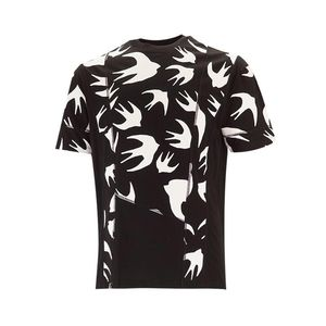 Alexander McQueen 亚历山大·麦昆男士百搭燕子印花T恤