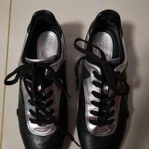 Louis Vuitton 路易·威登黑银拼皮平底鞋