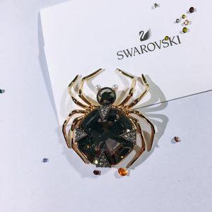 SWAROVSKI 施华洛世奇圣诞折扣金色蜘蛛昆虫胸针