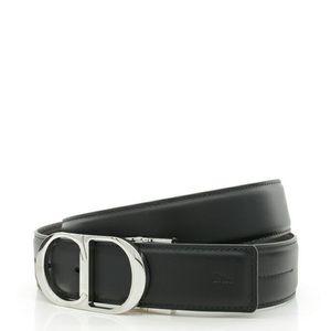 Dior 迪奥男士真皮2面用皮带简约腰带