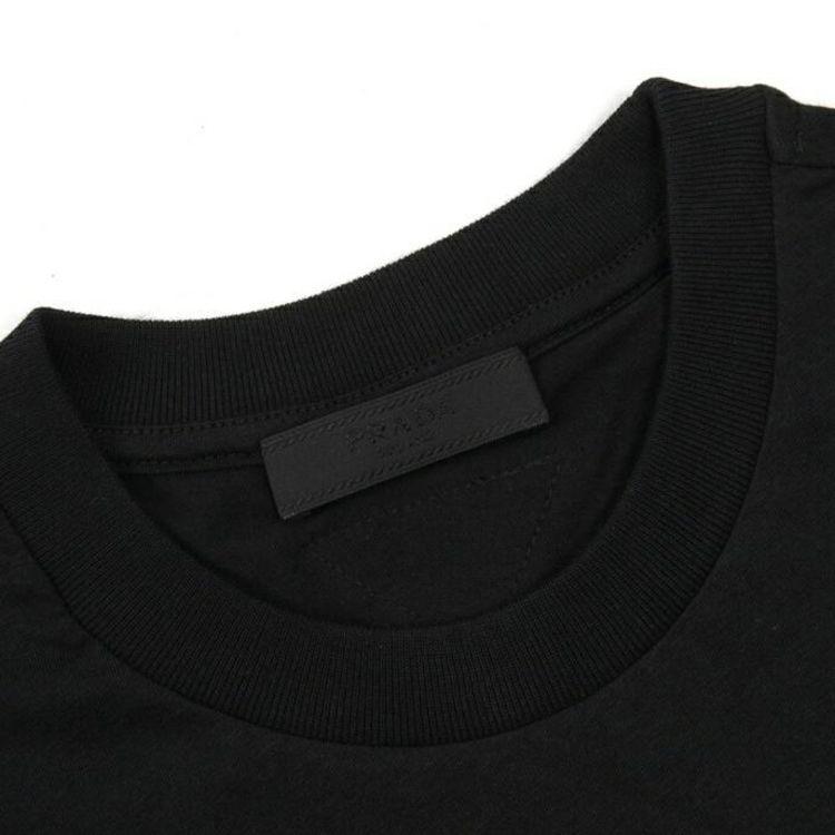 PRADA 普拉达三角标纯色百搭男短袖T恤