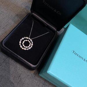 Tiffany & Co. 蒂芙尼女士项链铂金满钻吊坠