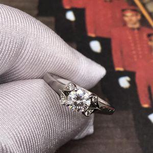 Cartier 卡地亚铂金42分女士钻石戒指