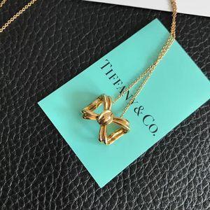 Tiffany & Co. 蒂芙尼18k金蝴蝶结项链