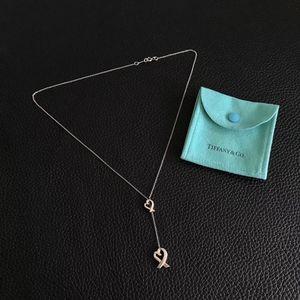 Tiffany & Co. 蒂芙尼毕加索Y字桃心925银爱心项链