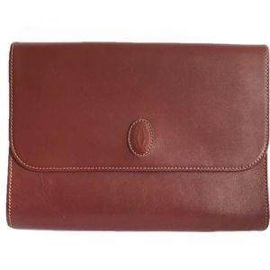 Cartier 卡地亚经典复古红手拿包