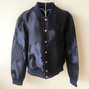 Versace 范思哲女士藏蓝色迷彩飞行员夹克