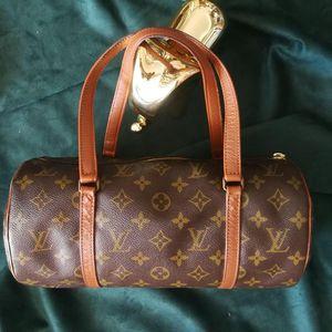 Louis Vuitton 路易·威登ST03004红皮中古款老花圆筒手提包
