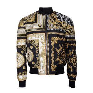 Versace 范思哲男士金色印花开衫外套