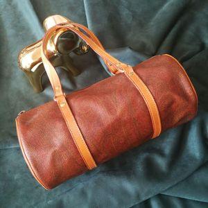 Etro 艾特罗ST03007炫彩印花配皮圆筒包手提包