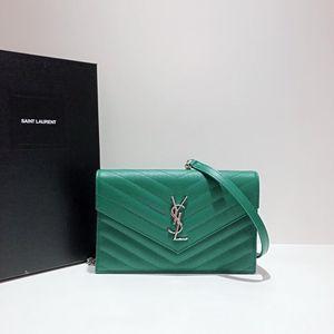 Yves Saint Laurent圣罗兰浮雕链条信封包