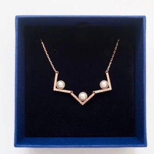 SWAROVSKI 施华洛世奇珍珠玫瑰金色项链