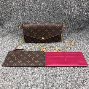 Louis Vuitton 路易·威登女士老花三合一单肩链条包