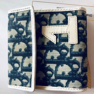 Dior 迪奥数字1限量款青花瓷蓝三折钱包