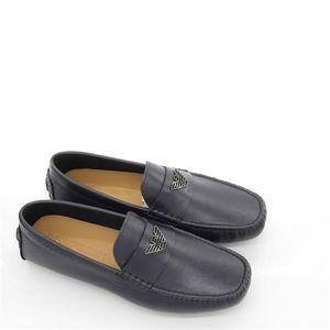Emporio Armani 安普里奥·阿玛尼鹰标男士真皮休闲鞋开车鞋