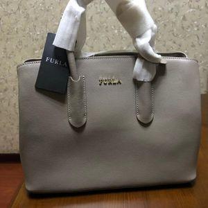 Furla 芙拉银灰色手提包