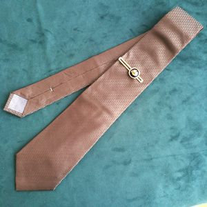 Dior 迪奥LD04023男士重磅真丝暗纹logo印花时装领带