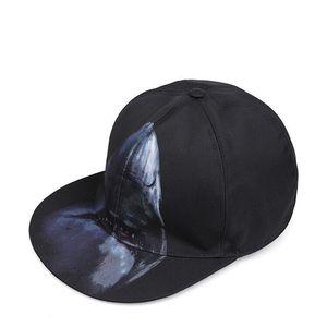 GIVENCHY 纪梵希男士黑色鲨鱼图案时尚棒球帽
