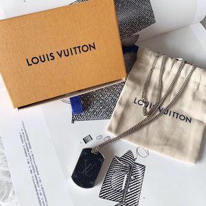 Louis Vuitton 路易·威登logo黑底老花项链