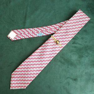 Hermès 爱马仕LD10104男士重磅真丝印花时装领带