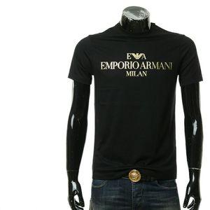 Emporio Armani 安普里奥·阿玛尼男士烫金短袖圆领T恤