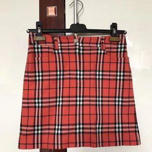 Burberry 博柏利经典苏格兰格纹子半身裙