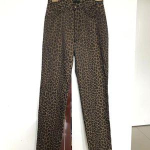 FENDI 芬迪经典字母logo稀有豹纹休闲裤