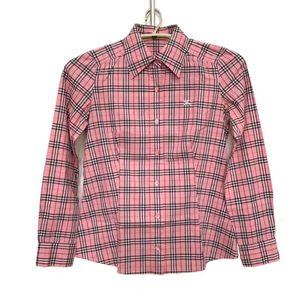 Burberry 博柏利粉色格子纹长袖衬衫