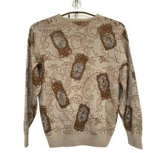 Burberry 博柏利驼色羊毛针织圆领毛衣上衣