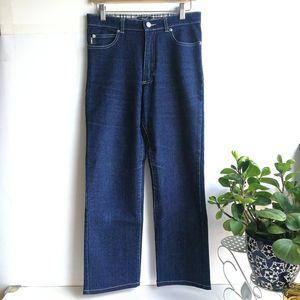 Burberry 博柏利YF04015深蓝牛仔阔腿裤