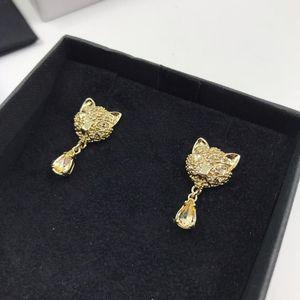 Miu Miu 缪缪猫咪水晶耳环