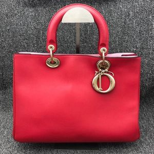 Dior 迪奥女士红色手提单肩包