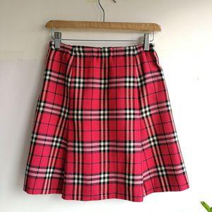 Burberry 博柏利YF04024深粉红大格纹半裙