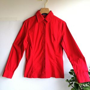 Burberry 博柏利YF04020正红工装长袖衬衫40码